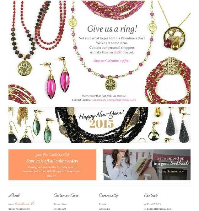 CrisintaV.com Magento Ecommerce Jewelry Store