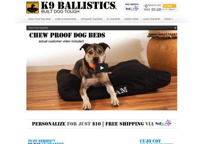 K9 Balistics – Mobile Magento Ecommerce Dog Bed Store
