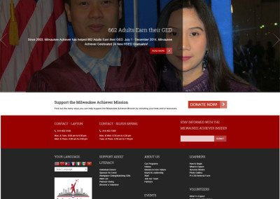 Milwaukee Achiever Site Redesign